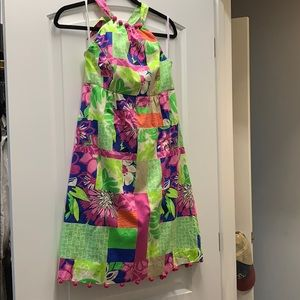 Lily Pulitzer Halter dress with Pom detailing